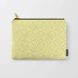 Think Print - Yellow White Carry-All Pouch