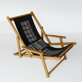 New York City (type in type on black) Sling Chair