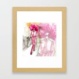 Runway diva Framed Art Print