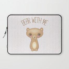 Bear With Me - Creepy Cute Teddy Laptop Sleeve