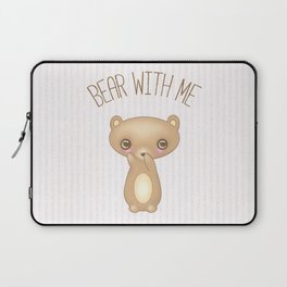Bear With Me - Creepy Cute Teddy Laptop Sleeve