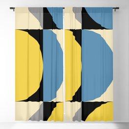 Mid Century Modern Geometric Abstract 240 Blackout Curtain