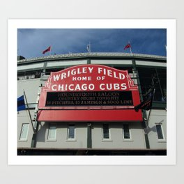 Chicago Wrigley Field Sign Art Print