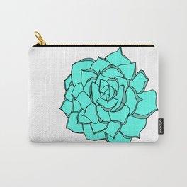 Blue Succulent Love Carry-All Pouch