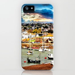 Teignmouth Water Paint iPhone Case