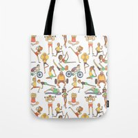 gym Tote Bags featuring Gym Buddies by Sid's Shop
