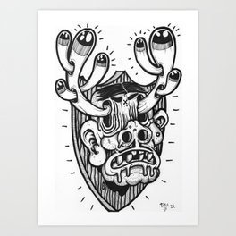 Cash and Trophies. Art Print