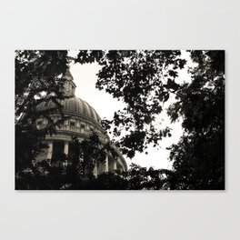 St Paul's Cathedral B&W Alt Canvas Print