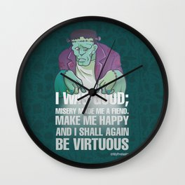 Frank Monster - Drawlloween2018 Wall Clock
