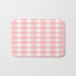 Pink Gingham Design Bath Mat