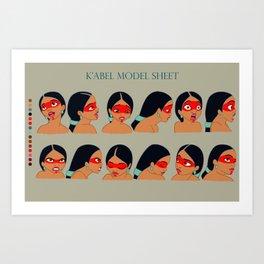 K'abel face concept Art Print