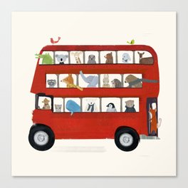 the big little red bus Canvas Print