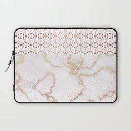 MARBLE & ROSEGOLD HEXAGONAL Laptop Sleeve
