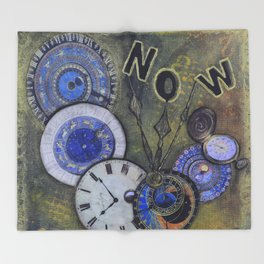 The Time is Always Now (or 11:11) Throw Blanket
