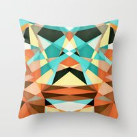 infamous Throw Pillows featuring Bubico by Anai Greog