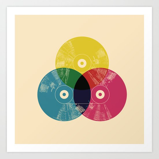 Music is the colors of life Art Print