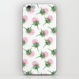 Pink thistel - Waterolor iPhone Skin
