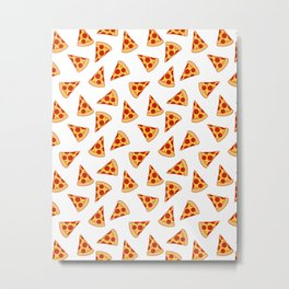 PIZZA FAST FOOD PATTERN Metal Print