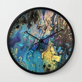 Energizing Waves Wall Clock