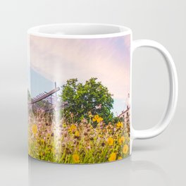 Field of Yellow Flowers With Chapel | French Riviera Europe City Urban Landscape Photography Coffee Mug