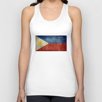 philippines Tank Tops featuring  Republic of the Philippines national flag (50% of commission WILL go to help them recover) by Bruce Stanfield