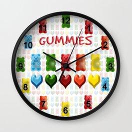 Gummy Bears, Jelly Hearts Wall Clock