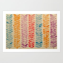watercolor knit pattern Art Print
