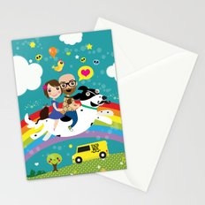 Rick and Ellen Fly to the Taco Bus Stationery Cards