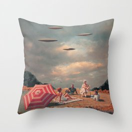 Pretend They Never Came Throw Pillow