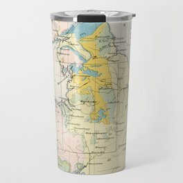 Vintage Map of the Coal Fields of Great Britain Travel Mug