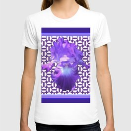 Decorative  purple Iris Optical Pattern Art T-shirt