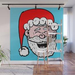 Laughing Santa Wall Mural