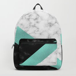 Mint marble Backpack