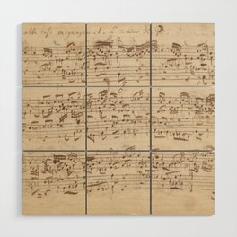 Old Music Notes - Bach Music Sheet Wood Wall Art