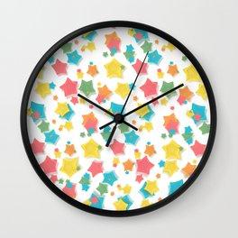 Origami Stars Wall Clock