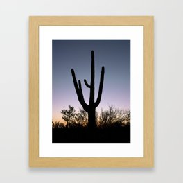 Sunset Cacti Framed Art Print