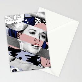 Roy Lichtenstein's Drowning Girl & Tippi Hedren in Birds Stationery Cards