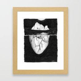 Cold Hearted Framed Art Print