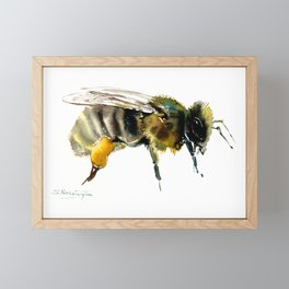 Bee, bee design honey bee, honey making Framed Mini Art Print