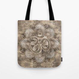 Om Symbol Lotus flower Vintage gold Tote Bag