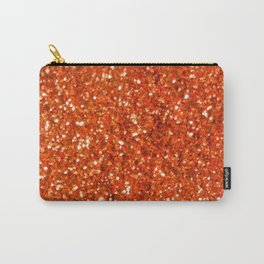 Orange Glitter Carry-All Pouch