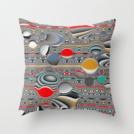 Changing Forms Throw Pillow