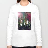 kodama Long Sleeve T-shirts featuring Kodama under the tree by pka1