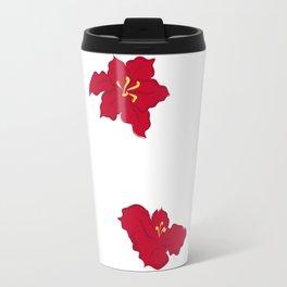 Poinsettia - red Travel Mug