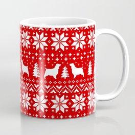 English Springer Spaniel Silhouettes Christmas Sweater Pattern Coffee Mug