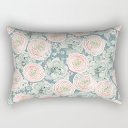 Flowers And Succulents #buyart #decor #society6 Rectangular Pillow