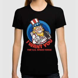 US Space Force I Want You Uncle Sam T-shirt