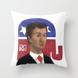 Rand Paul Caricature Throw Pillow