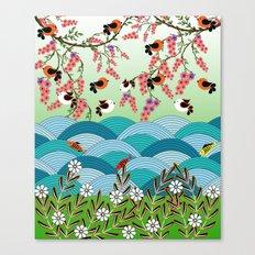 beautiful river Canvas Print