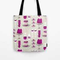 dessert Tote Bags featuring jelly dessert  by mummysam